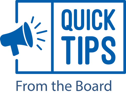 Quick Tips from the Board about Business - coming soon